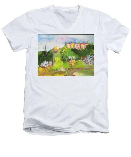 Near Tuscany Men's V-Neck T-Shirt