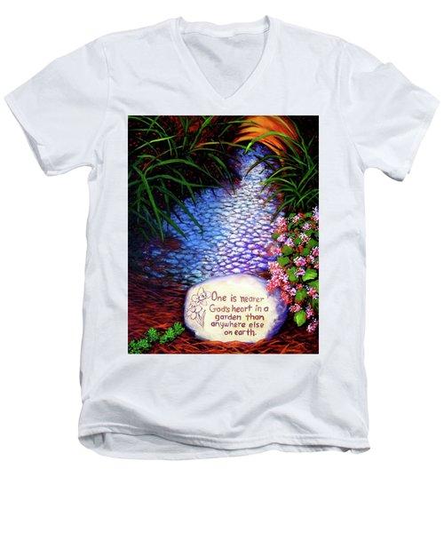 Garden Wisdom, Nearer Men's V-Neck T-Shirt