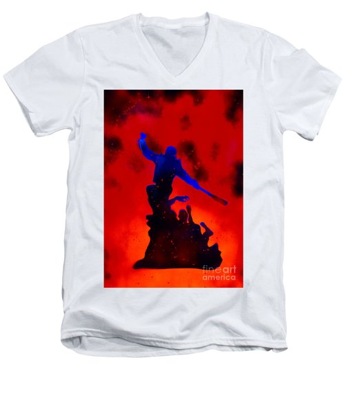 Negan Triumph  Men's V-Neck T-Shirt by Justin Moore