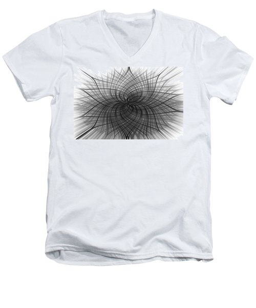 Men's V-Neck T-Shirt featuring the digital art Negativity by Carolyn Marshall