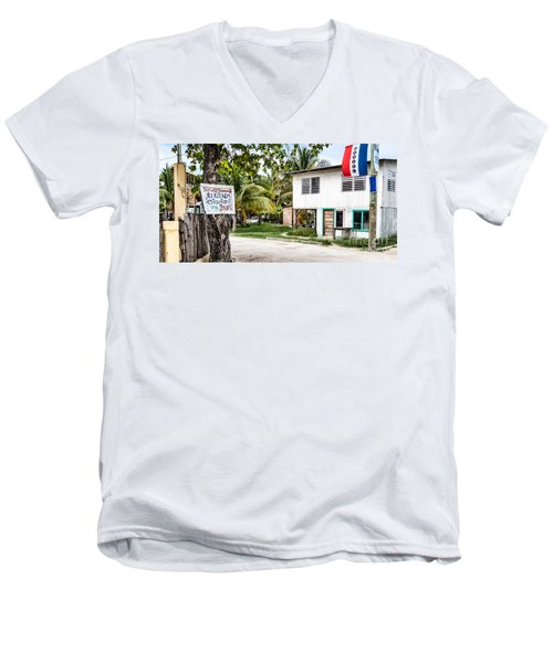 Men's V-Neck T-Shirt featuring the photograph Neglected In Paradise by Lawrence Burry