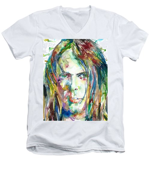 Neil Young Portrait Men's V-Neck T-Shirt