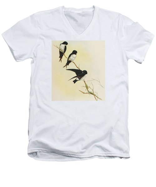 Nepal House Martin Men's V-Neck T-Shirt