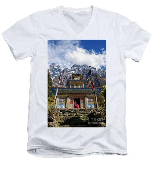 Nepal_d1062 Men's V-Neck T-Shirt