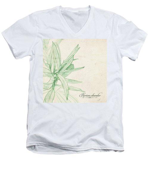 Nerium Oleander Men's V-Neck T-Shirt