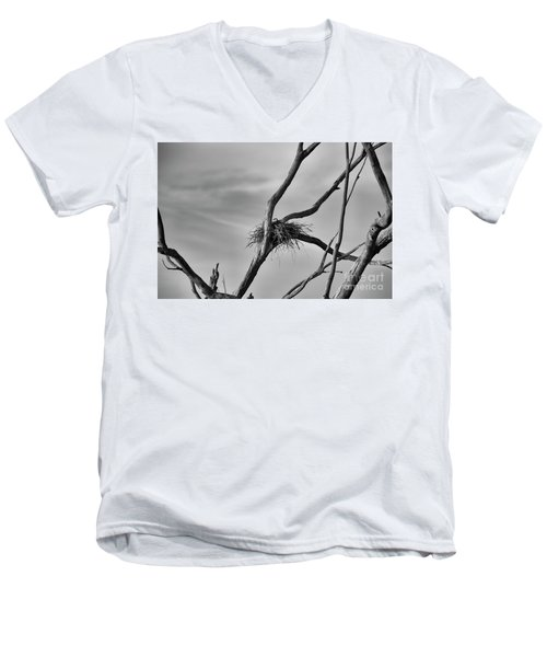 Men's V-Neck T-Shirt featuring the photograph Nested by Douglas Barnard