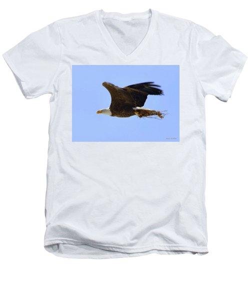 Nesting Eagle Men's V-Neck T-Shirt