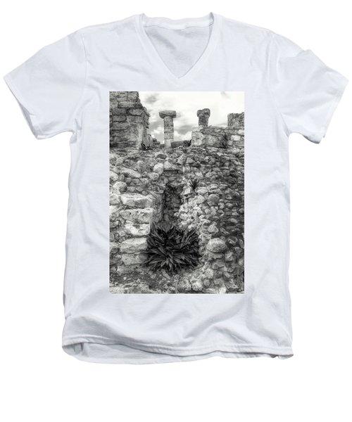 Nestle Rock B/w Men's V-Neck T-Shirt