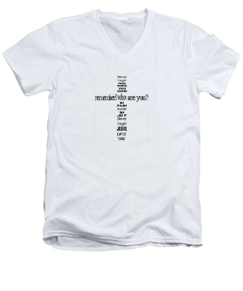 Never Forget, A Fax For You Men's V-Neck T-Shirt