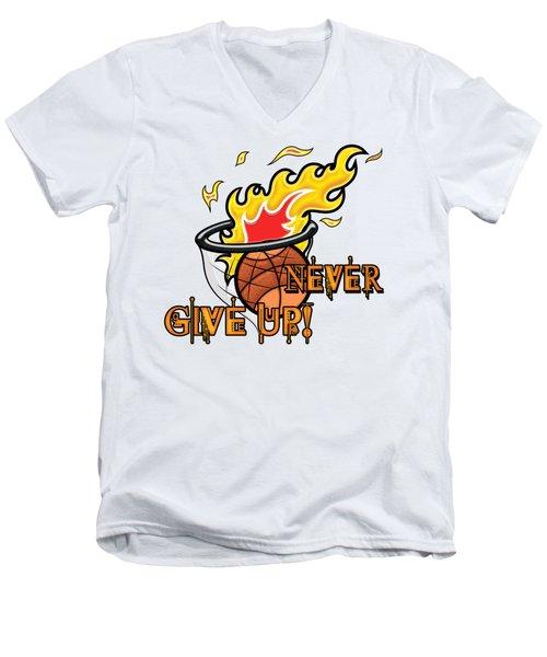 Never Give Up Hebrews Chapter 11 Men's V-Neck T-Shirt