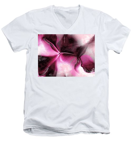 Men's V-Neck T-Shirt featuring the digital art Desire by Yul Olaivar