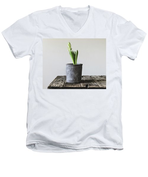 Men's V-Neck T-Shirt featuring the photograph New Beginings by Kim Hojnacki