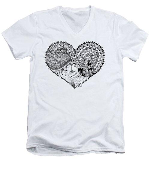 New Beginning Men's V-Neck T-Shirt by Ana V Ramirez