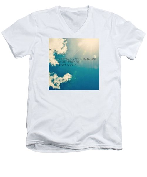 Men's V-Neck T-Shirt featuring the photograph New Beginning by Artists With Autism Inc