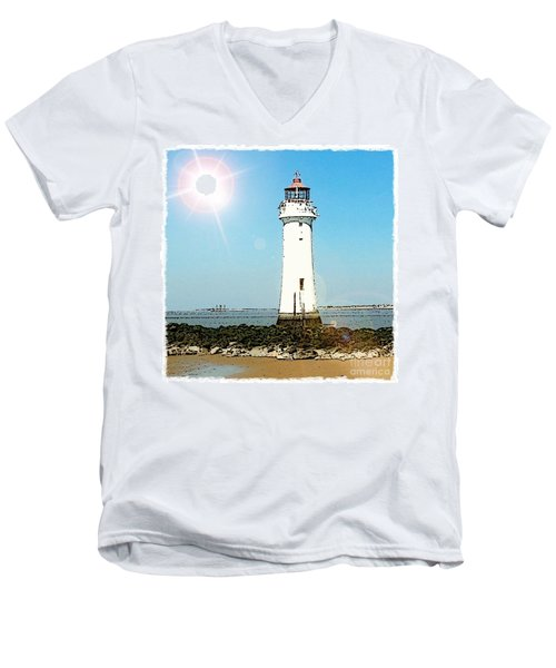 New Brighton Lighthouse Men's V-Neck T-Shirt