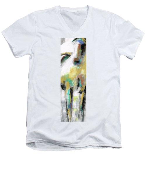New Mexico Horse 4 Men's V-Neck T-Shirt by Frances Marino