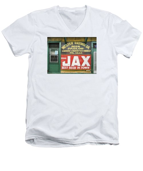 New Orleans Beer Parlor Men's V-Neck T-Shirt