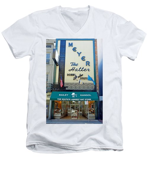 New Orleans Hatter Men's V-Neck T-Shirt