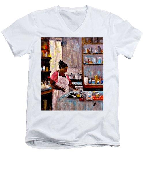 New Recipe.. Men's V-Neck T-Shirt by Cristina Mihailescu