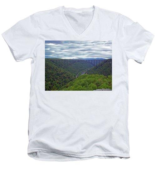 New River Bridge Men's V-Neck T-Shirt