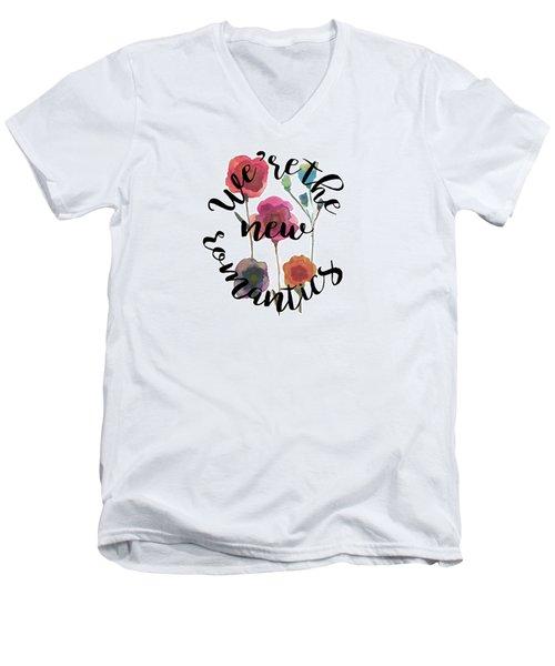 New Romantics Men's V-Neck T-Shirt by Patricia Abreu