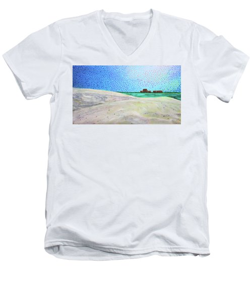 New Smyrna Beach As Seen From A Dune On Ponce Inlet Men's V-Neck T-Shirt