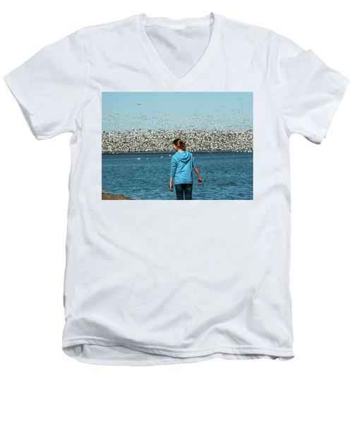 New Upload Men's V-Neck T-Shirt