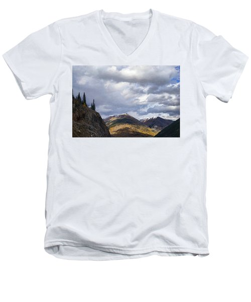 Peeking At The Peaks Men's V-Neck T-Shirt