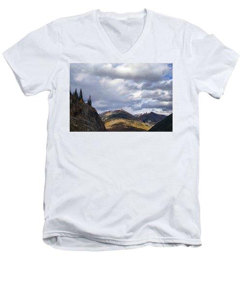 Peeking At The Peaks Men's V-Neck T-Shirt