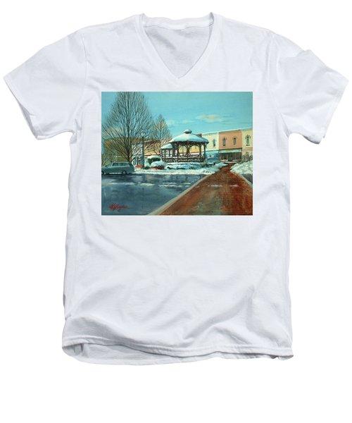 Triangle Park In Winter Men's V-Neck T-Shirt