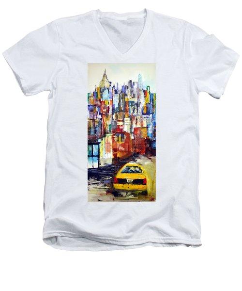 New York Cab Men's V-Neck T-Shirt
