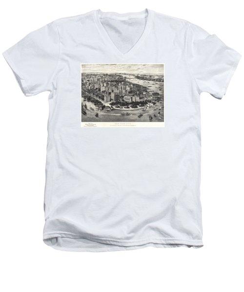 New York City Manhattan 1905 Men's V-Neck T-Shirt