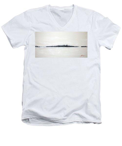 New York City Skyline 48 Men's V-Neck T-Shirt