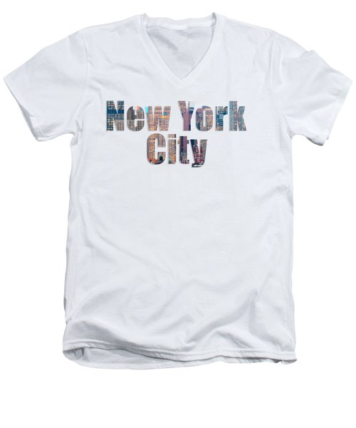 New York Font V2 Men's V-Neck T-Shirt