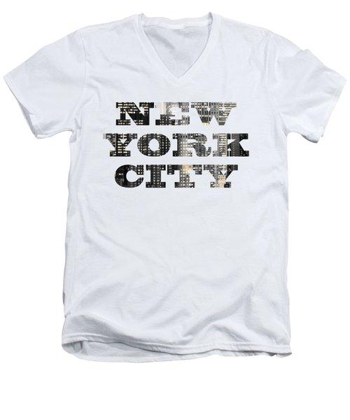 New York Shapes Tee 092717 Men's V-Neck T-Shirt