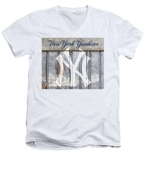 New York Yankees Rustic Men's V-Neck T-Shirt