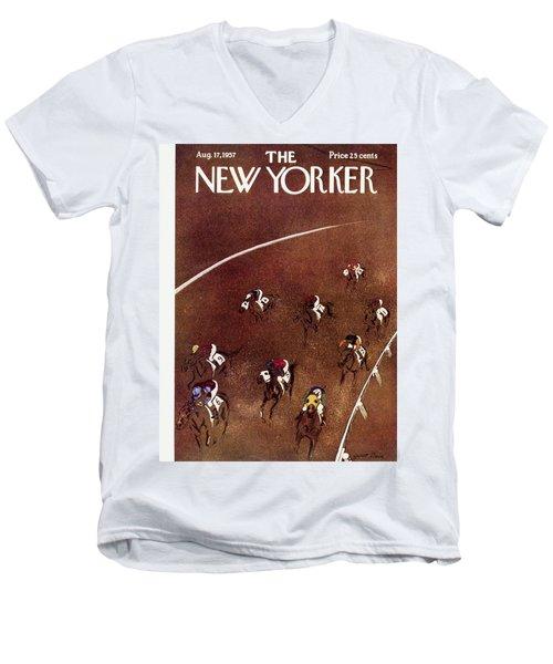 New Yorker August 17 1957 Men's V-Neck T-Shirt