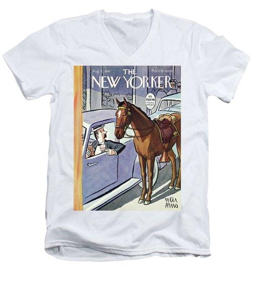 New Yorker August 2 1941 Men's V-Neck T-Shirt