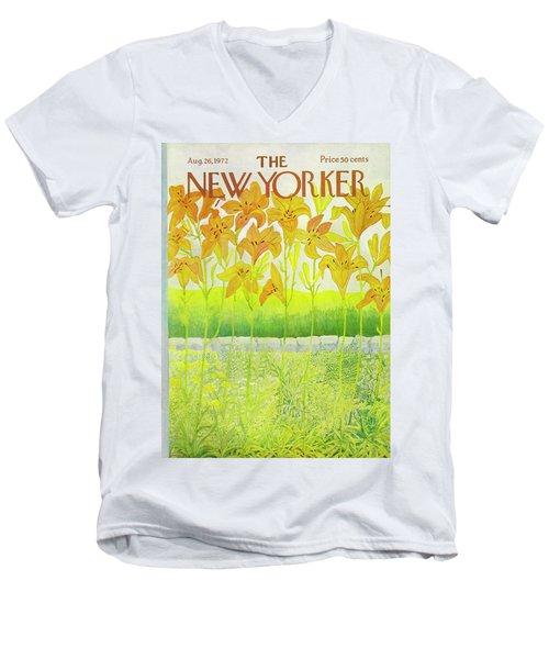 New Yorker Cover August 26 1972  Men's V-Neck T-Shirt