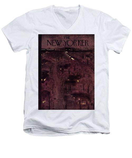 New Yorker February 6 1954 Men's V-Neck T-Shirt