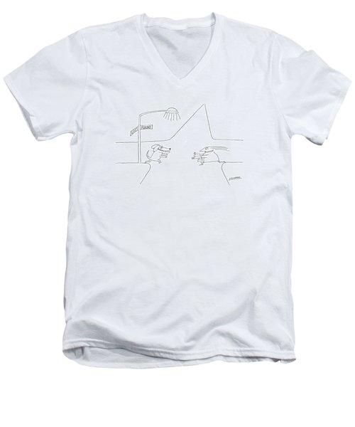 New Yorker January 12th 1976 Men's V-Neck T-Shirt