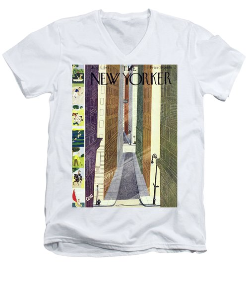 New Yorker July 5th, 1947 Men's V-Neck T-Shirt