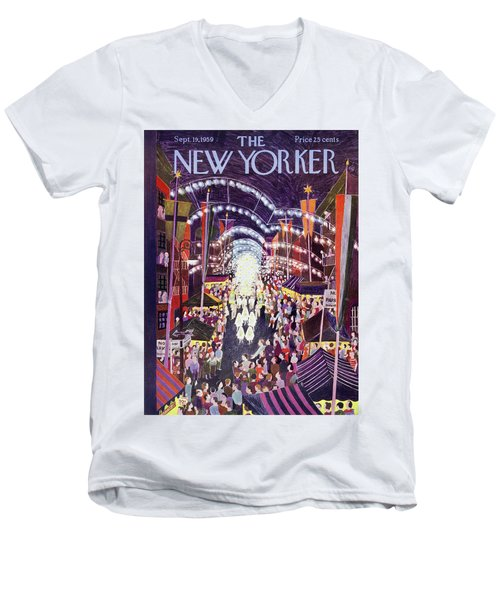 New Yorker September 19 1959 Men's V-Neck T-Shirt