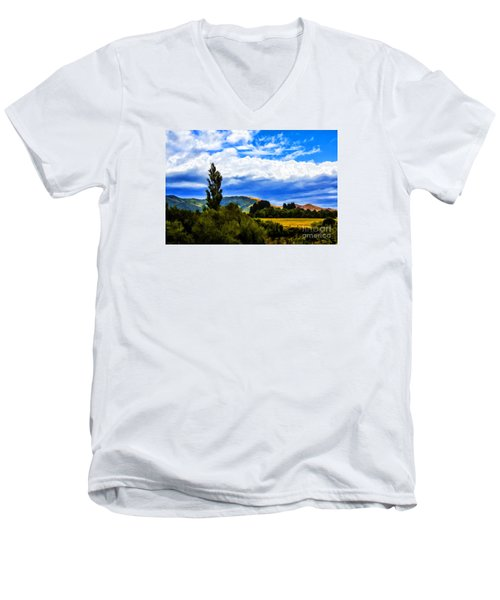 Men's V-Neck T-Shirt featuring the photograph New Zealand Legacy by Rick Bragan