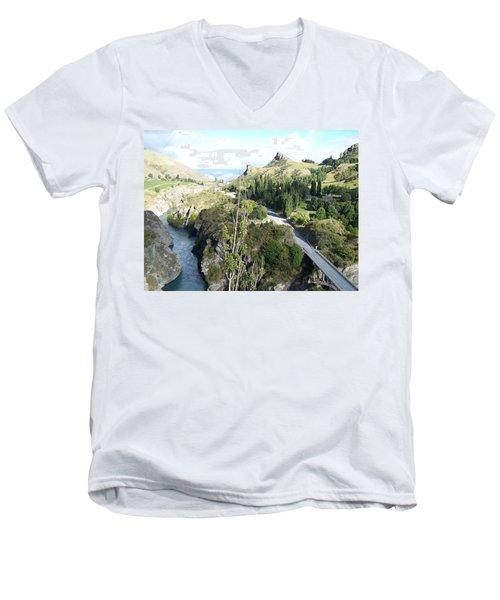New Zealand Scene Men's V-Neck T-Shirt by Constance DRESCHER