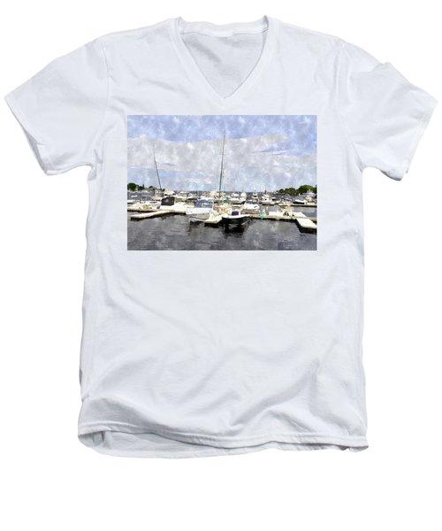 Newburyport Harbor Nhwc Men's V-Neck T-Shirt