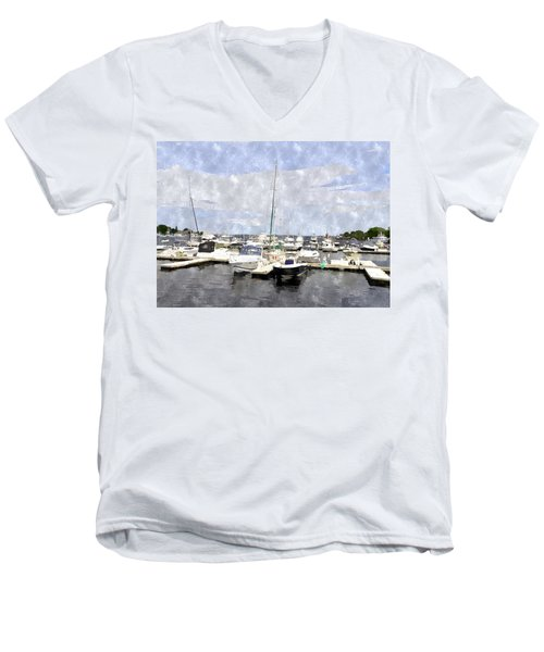 Newburyport Harbor Nhwc Men's V-Neck T-Shirt by Jim Brage