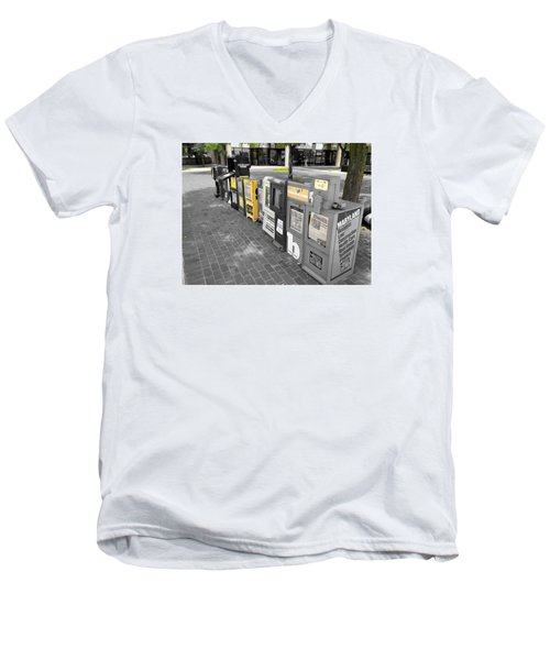 Newspaper Boxes Men's V-Neck T-Shirt