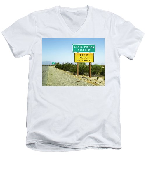 Next Exit Men's V-Neck T-Shirt
