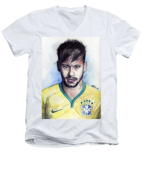 Neymar Men's V-Neck T-Shirt